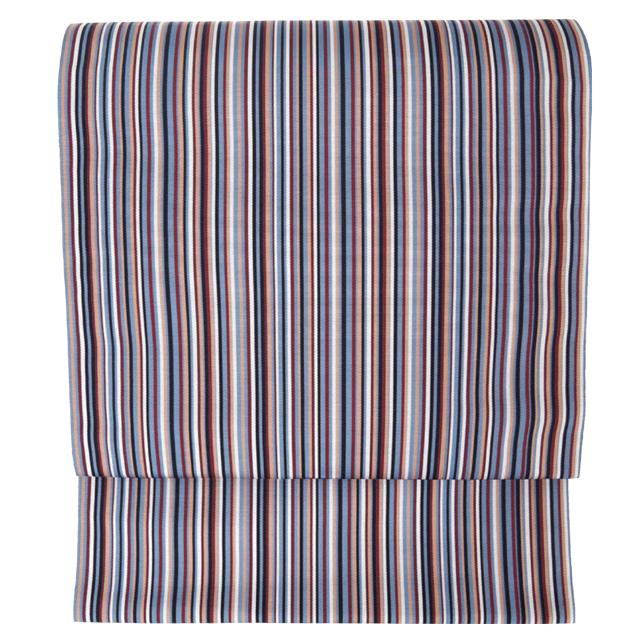 博多帯【マルチストライプ博多帯】絹100% 八寸 名古屋帯