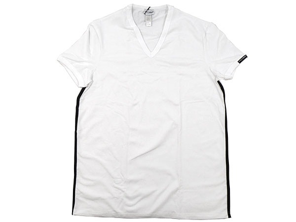And write a Dolce & Gabbana DOLCE &GABBANA ★ reviews! Apparel (t-shirts) M10919 OM876 white side line with V Neck T shirt (XS, S) real cheap! Men's