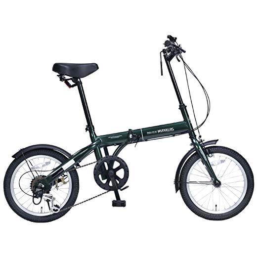 折りたたみ自転車 16インチ 6段変速付 M-103 マイパラス