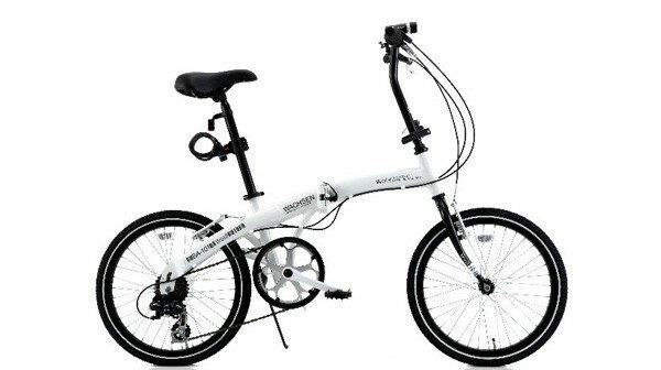 折りたたみ自転車 20インチ 折り畳み自転車 ライト カギ 泥除け付 軽量 アルミフレーム 自転車 20インチ シマノ6変速 シティサイクル BA-101 自転車