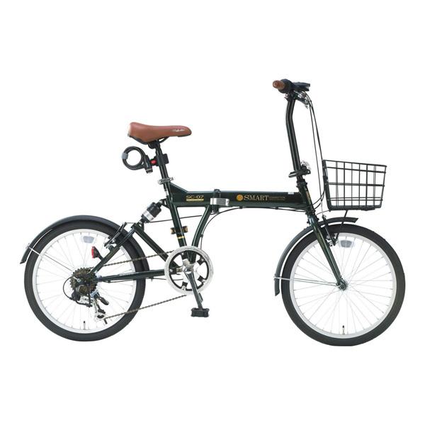 折りたたみ自転車 自転車通販 人気折り畳み自転車 折畳自転車20インチ シマノ6段変速 パンクしにくい リアサスペンション付 ライト・バスケット・カギ付 SC-07 PLUS マイパラス