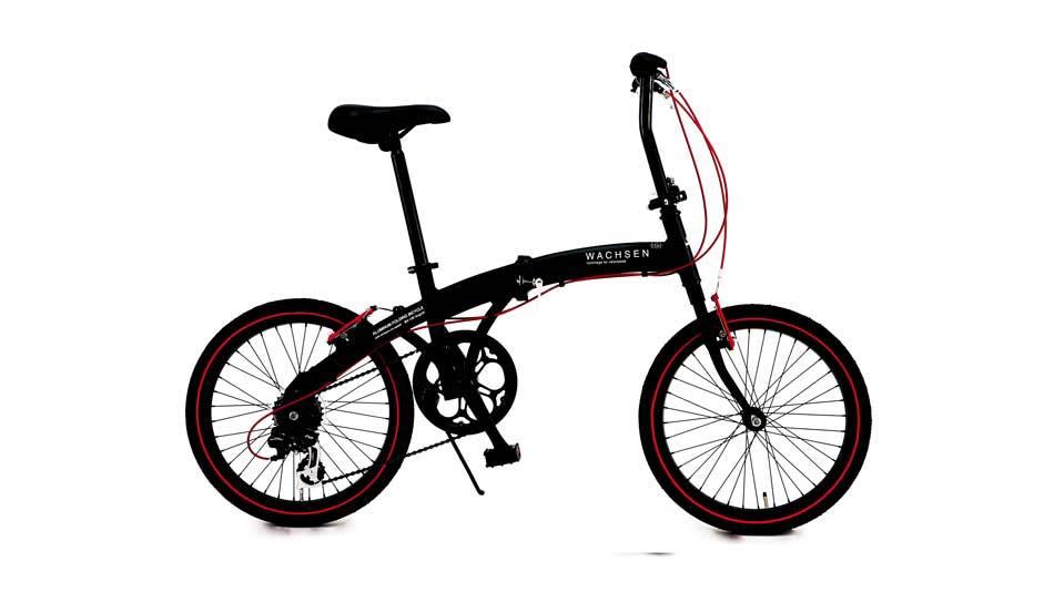折りたたみ自転車 20インチ シマノ6段変速 アルミフレーム 軽量 WACHSEN Angriff BA-100 カッコイイ自転車 【折り畳み自転車 折畳み自転車 自転車 自転車通販】