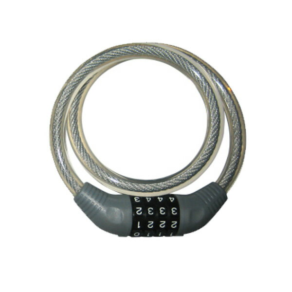 自転車の鍵 ロック 自転車の防犯 ダイヤル式ワイヤー錠 JC-001W
