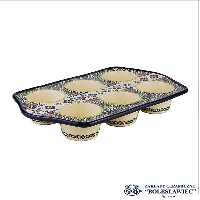 [Zaklady Ceramiczne Boleslawiec/ザクワディ ボレスワヴィエツ陶器]マフィン型-du60