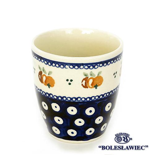 Zaklady Ceramiczne Boleslawiec 出色 ボレスワヴィエツ陶器 高級品 湯呑カップ-479 ザクワディ