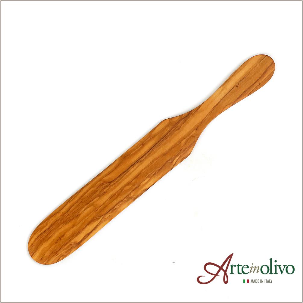 Arteinolivo オンライン限定商品 在庫あり オリーブウッドのクレープスパチュラ 27cm
