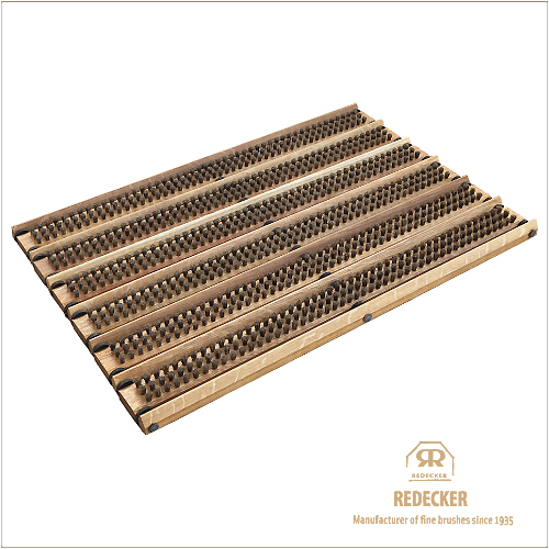 REDECKER レデッカー 馬毛の玄関マット(オーク/泥落とし付き)