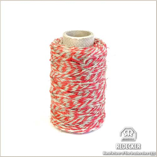 pretty nice 84103 f1762 [REDECKER/ レデッカー] flaxen multipurpose string thread (red X gray) 75m