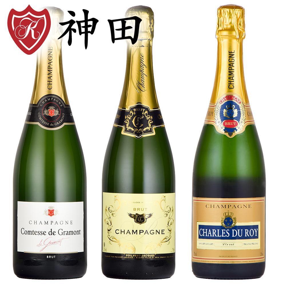 厳選 シャンパン 3本 セット 辛口 送料無料 シャンパーニュ フランス