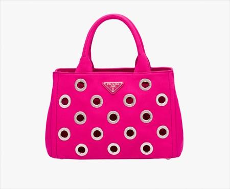 プラダ [PRADA] パンチング トートバッグ 1BG439-ZKI-F0029VOVO FUXIA / 赤紫【あす楽対応_関東】【Luxury Brand Selection】
