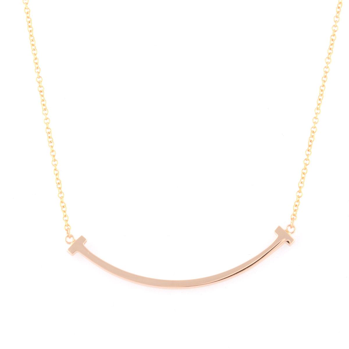 ティファニー Tiffany & Co.35189432 Tiffany T スマイル ペンダント ミニ 18KRG ネックレス 【送料無料】【Luxury Brand Selection】