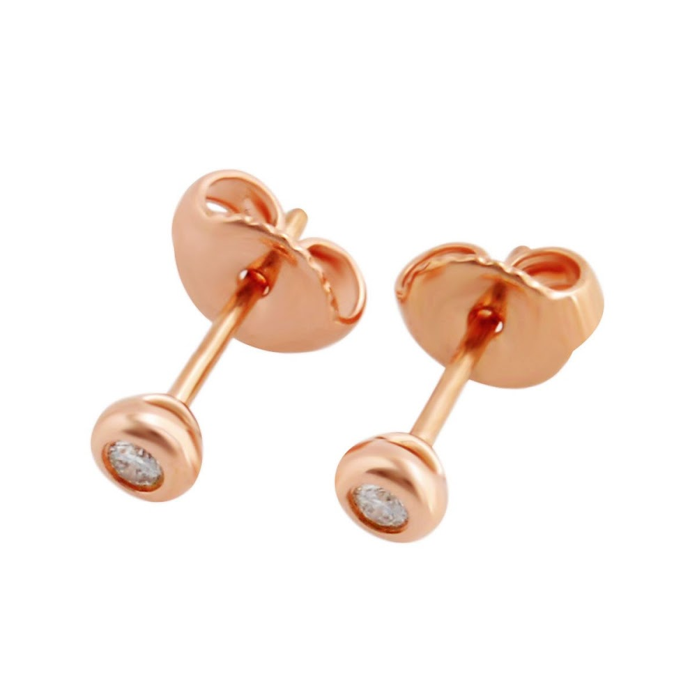 ティファニー Tiffany & Co.28334206 エルサ・ペレッティ ダイヤモンド バイ ザ ヤード ピアス 0.06ct 18KRG 【送料無料】【Luxury Brand Selection】