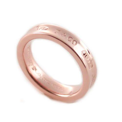 ティファニー Tiffany & Co. 1837 ナローリング 指輪 RUBEDO ルベドメタル 【送料無料】【Luxury Brand Selection】