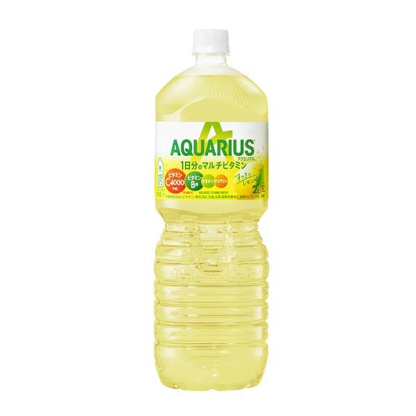 1日分のマルチビタミンが水分補給と同時に手軽に摂れる 捧呈 新品未使用正規品 レモン50個分のビタミンC1000mgと1日分のビタミンB群 ナイアシン ビオチン を配合 ミネラル 1日分のマルチビタミン PET アクエリアス 6本入×1ケース クエン酸入り 2L