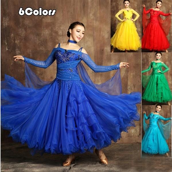 3f9171fea93b3 サイズS M L XL 2XL 全5色 競技用ドレス 社交ダンス レディース 社交 ...