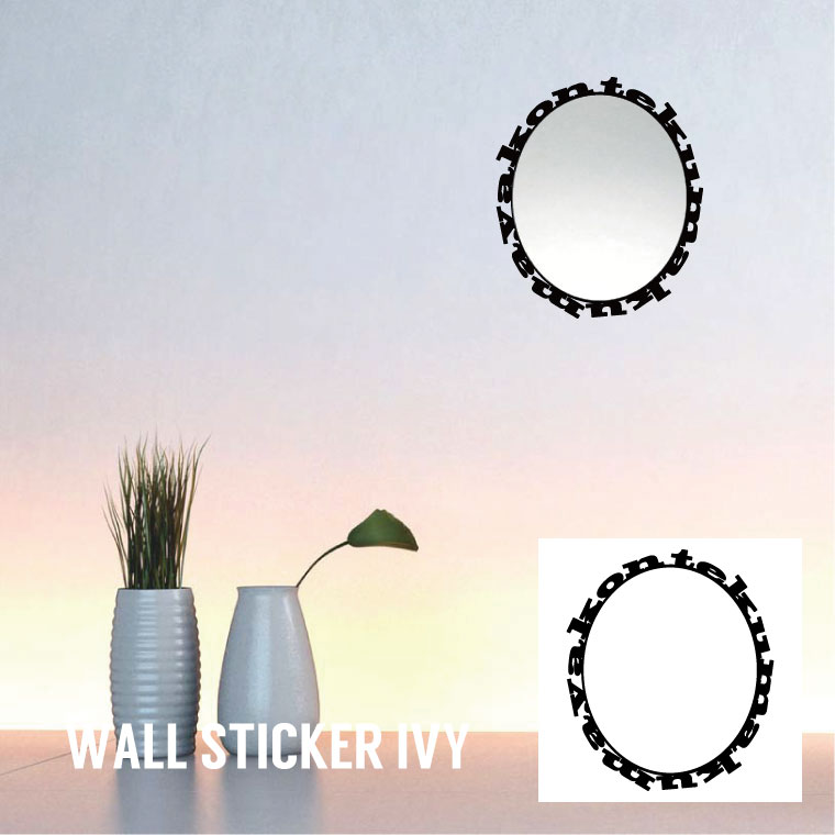 Wall mirror[Wall sticker/ウォールステッカー/Wall decal/壁掛け鏡]