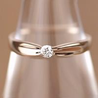 18金 一粒石ダイヤモンドリング (4月 誕生石) 18k K18 ピンクゴールド ダイヤリング 指輪 【送料無料】 【レディース 女性用 誕生日プレゼント 結婚記念日】【妻 母 贈り物】【母の日 ギフト】