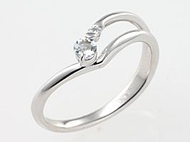 誕生石リング 3月 誕生石 アクアマリン ダイヤモンド指輪 送料無料  [ 誕生日 プレゼント ギフト ジュエリー アクセサリー ]