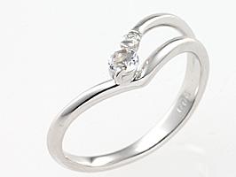 誕生石リング6月の誕生石ブルームーンストーン&ダイヤモンド指輪[送料無料] [ 誕生日 プレゼント ギフト ジュエリー アクセサリー ]