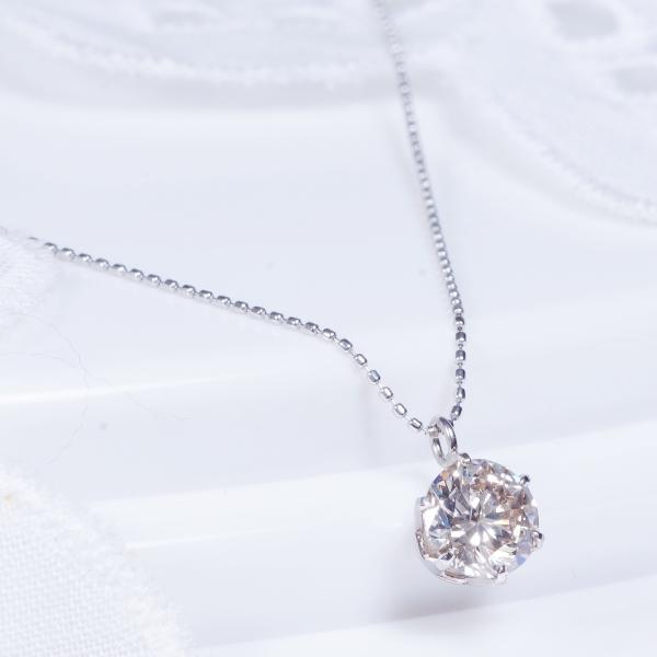 ギフトおすすめ 大粒0.7カラットのSIクラスにGOODカットの良質ダイヤモンドを厳選!【特別奉仕品】プラチナダイヤペンダントネックレス(0.7カラット:SIクラス:グッドカット:ヴェリーライトブラウン以上)