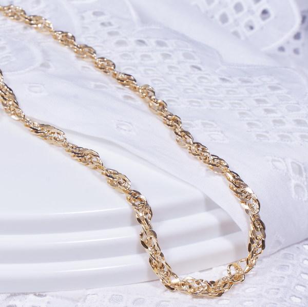 軽くてキラキラ輝くゴージャスなイタリア製デザインネックレス特別奉仕品 18金イタリー製デザインネックレス スクリュー 43cm