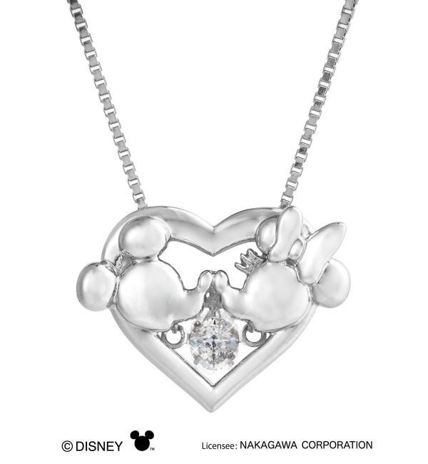 クロスフォーニューヨークダンシングストーンペンダントネックレス Heart Kiss(NDP003)