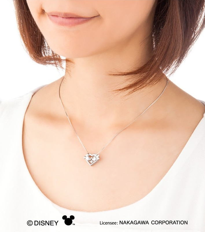 New York crossfor dancing stone pendant necklace Heart Kiss (np003)