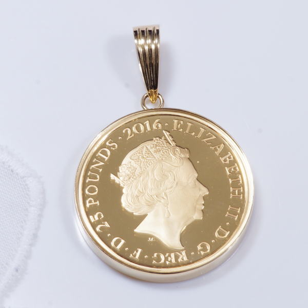 Japangold rakuten global market 18 gold frame solid gold rabbit 18 gold frame solid gold rabbit gold coin pendant 1 4 ounce 2016 double sided crystal reinforced glass specification time limited special offer aloadofball Choice Image