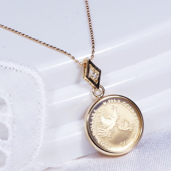Japangold rakuten global market special offer 18 k gold frame special offer 18 k gold frame gold phoenix gold pendant with diamonds 130 vatican oz mothers love coin series 2017 edition aloadofball Images