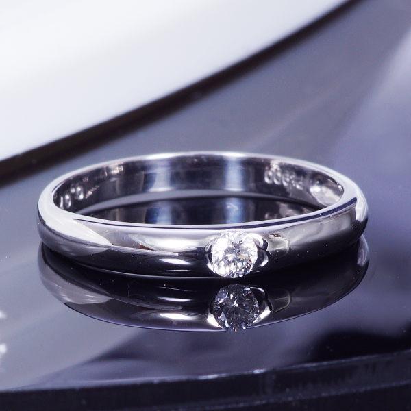 特別奉仕品 最高級 ハート&キューピットカット プラチナ ダイヤデザインリング(ワンストーン)
