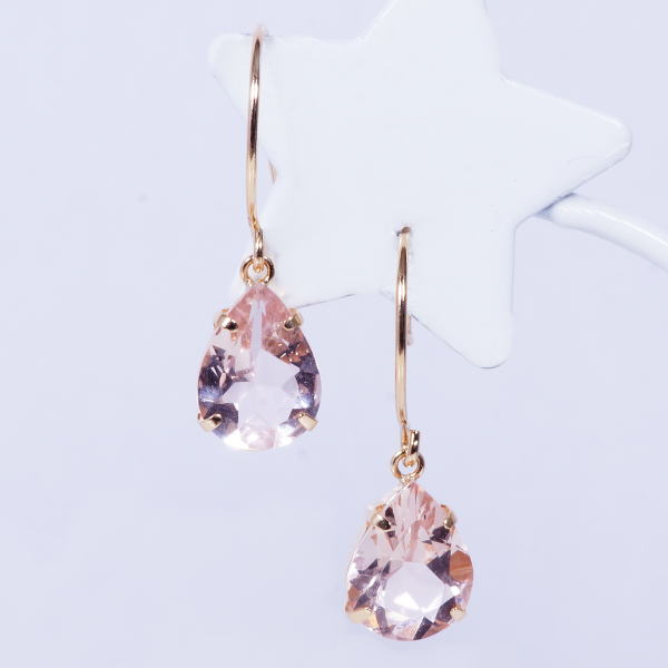 80f703e19f Special service product 18-karat gold large drop of morganite American  pierced earrings meter 2 carats pair shape March stone amulet for an easy  delivery