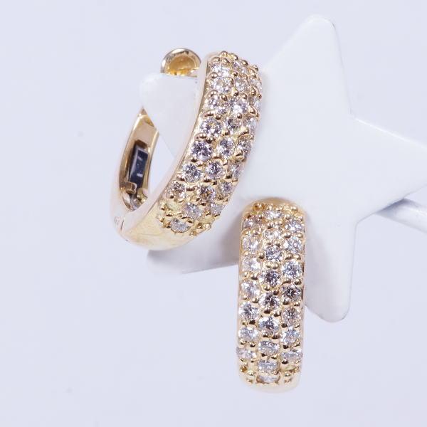 特別奉仕品 18金 ハート&キューピットダイヤ デザインピアス IA-750