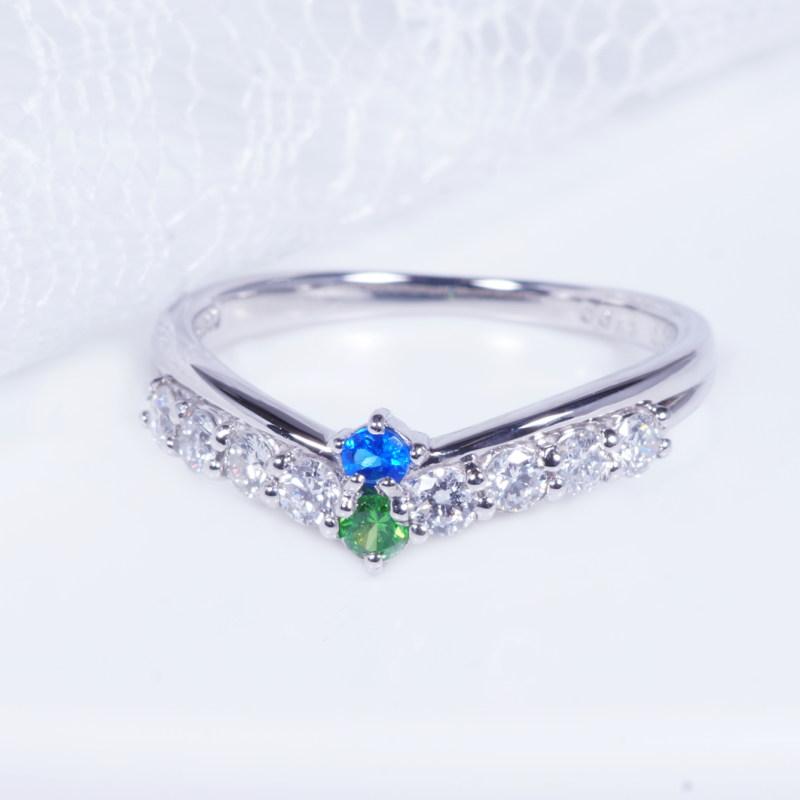 希少宝石 特別奉仕品 プラチナ アウイナイト デマントイトガーネット ダイヤ デザインリング RR-3456 1月誕生石