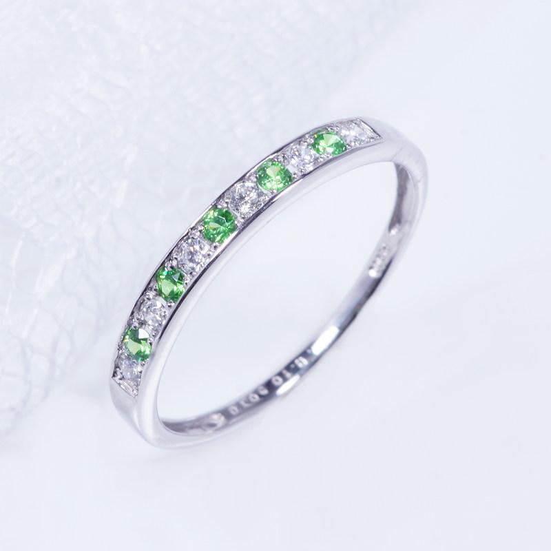 希少宝石 特別奉仕品 プラチナ デマントイトガーネット ダイヤ デザインリング K-24000 一文字