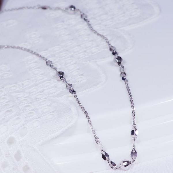 特別奉仕商品純プラチナデザインネックレス アズキ ファンタジア ミラーボール 43cm