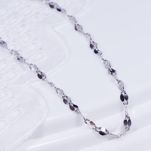 特別奉仕商品純プラチナデザインネックレス ファンタジアロール 43cm
