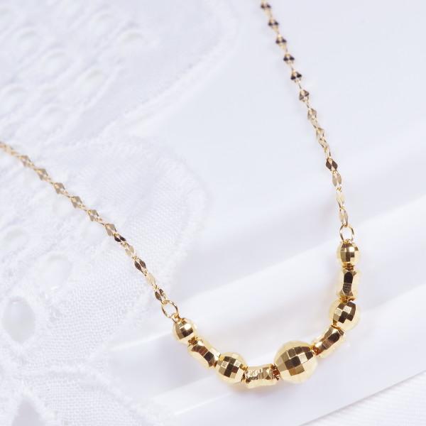 特別奉仕商品純金 デザインネックレス ファンタジア ミラーボール 42cm