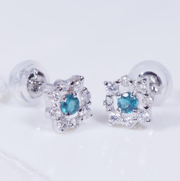 プラチナ グランディディエライト ダイヤ ピアス ダイヤ取り巻き IA2287 希少宝石 特別奉仕品