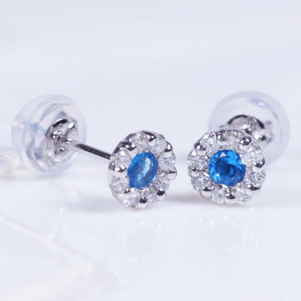 プラチナ アウイナイト ダイヤ ピアス ダイヤ取り巻き IA2302 希少宝石 特別奉仕品