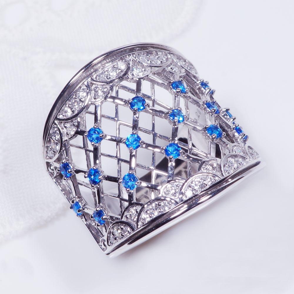 希少宝石 プラチナ アウイナイト ダイヤ デザインリング RR4120 幅広 アンティーク 格子