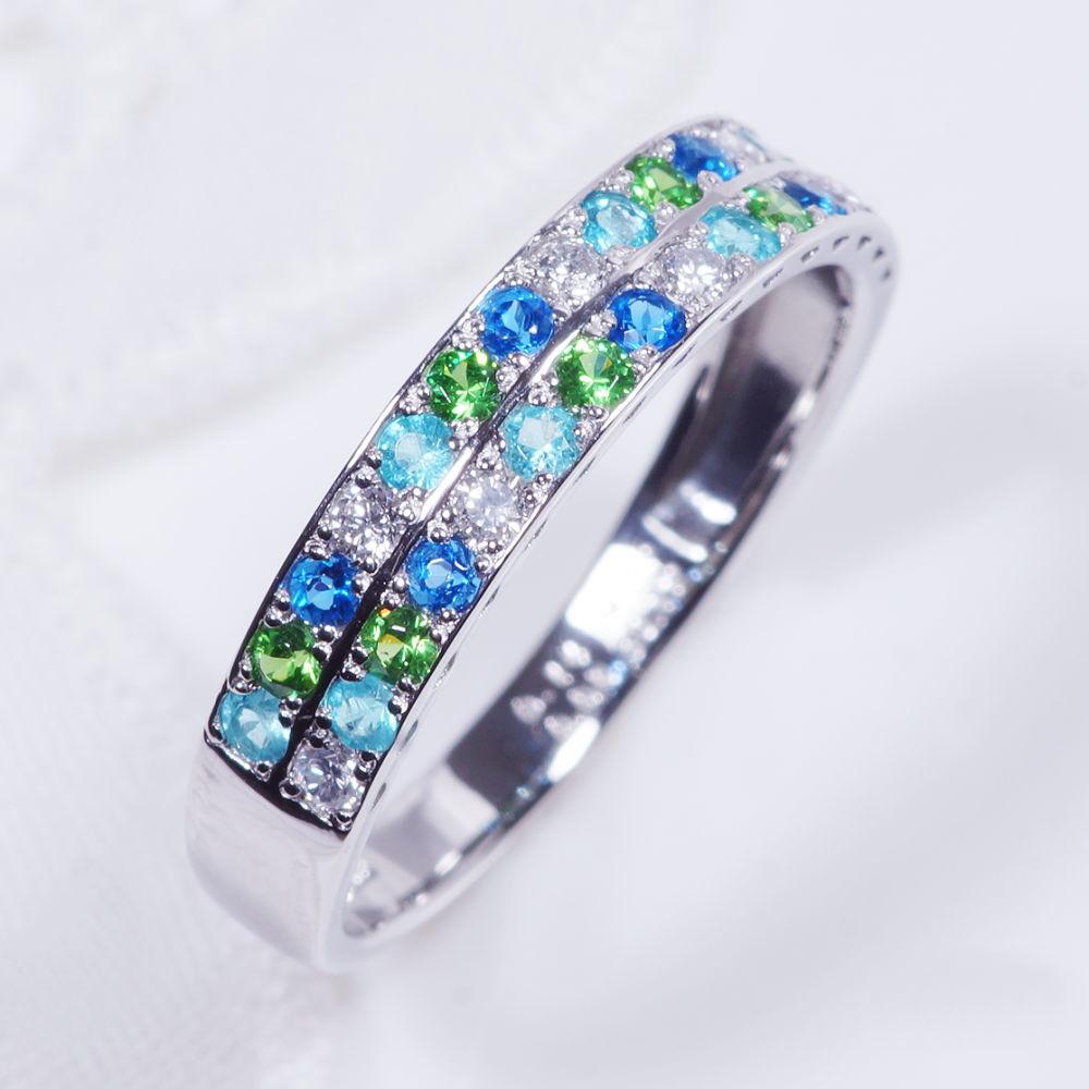 希少宝石 プラチナ アウイナイト パライバトルマリン デマントイトガーネット ダイヤ デザインリング R08180 2文字
