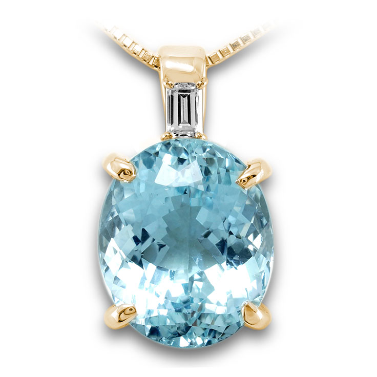 【K18ペンダント チャーム 加工】 Lサイズ バケットダイヤモンド 0.05ct SET