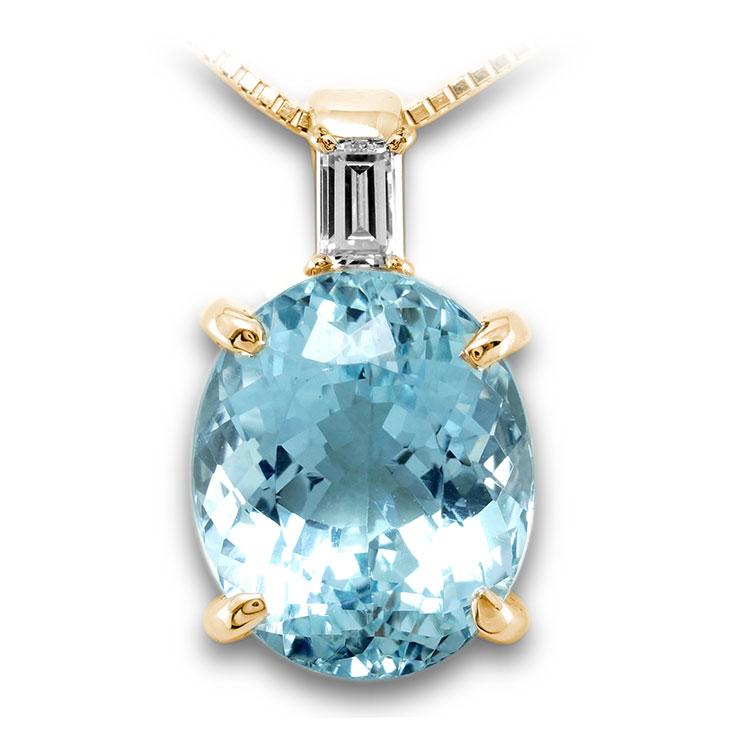 【K18ペンダント チャーム 加工】 Lサイズ バケットダイヤモンド 0.10ct SET