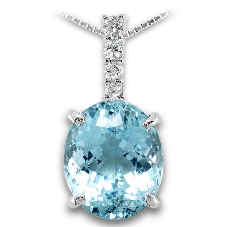 【Pt900ペンダント チャーム 加工】 Lサイズ I型バチカン ダイヤモンド 0.17ct SET