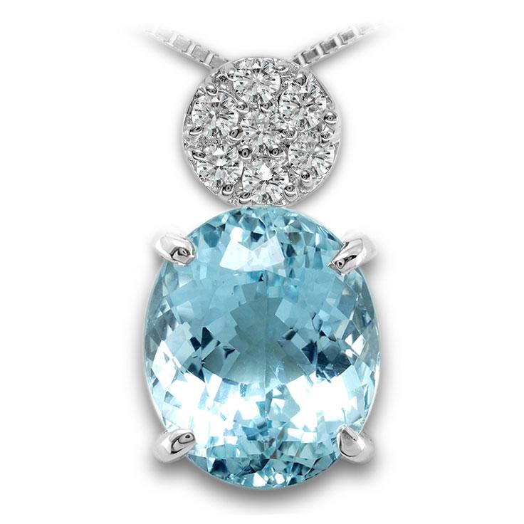 【Pt900ペンダント チャーム 加工】 Lサイズ O型バチカン ダイヤモンド 0.17ct SET