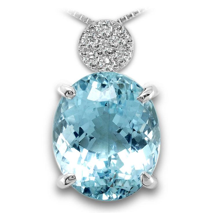 【Pt900ペンダント チャーム 加工】 LLサイズ O型バチカン ダイヤモンド 0.17ct SET