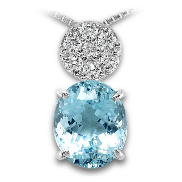 【Pt900ペンダント チャーム 加工】 Mサイズ O型バチカン ダイヤモンド 0.17ct SET