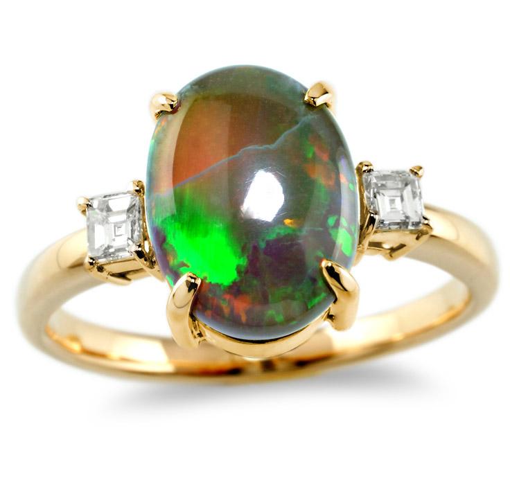 【K18リング 指輪 加工】 Lサイズ バケットダイヤモンド 0.10ct×2