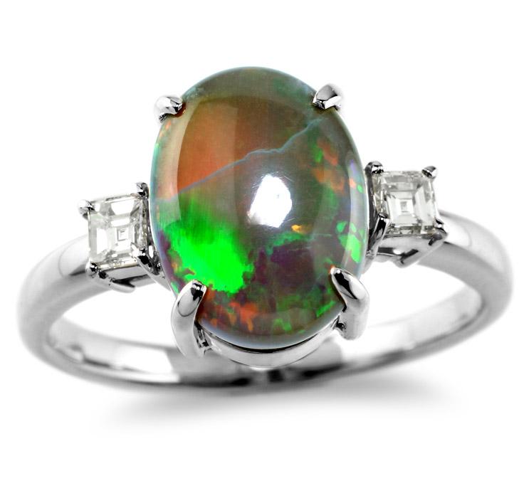 【Pt900リング 指輪 加工】 Lサイズ バケットダイヤモンド 0.10ct×2