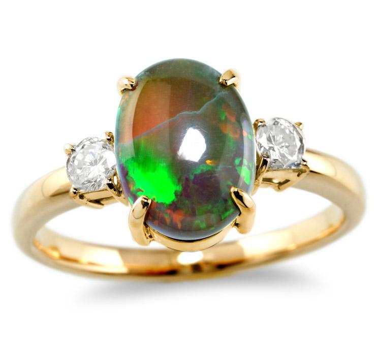 【K18リング 指輪 加工】 Mサイズ ラウンドダイヤモンド 0.10ct×2